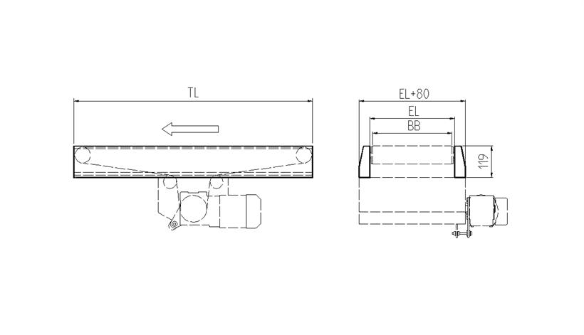 Slat Belt Conveyor Iltp 50-21