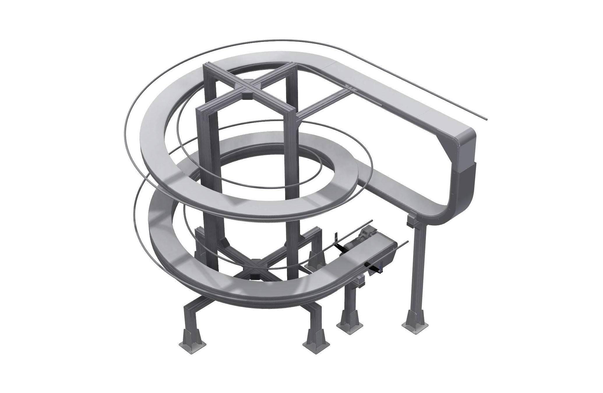 Lamellkedjetransportör Spiral IFTP 50